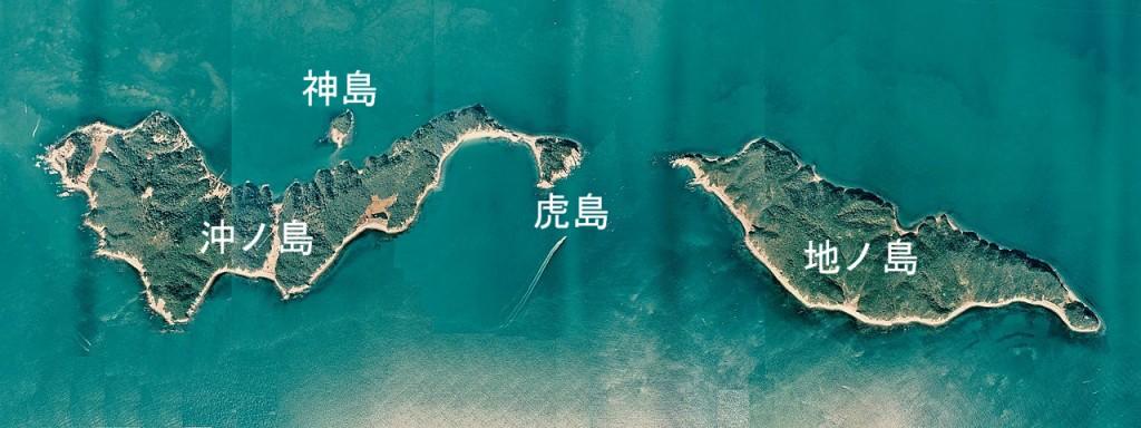 友ヶ島群島空中写真