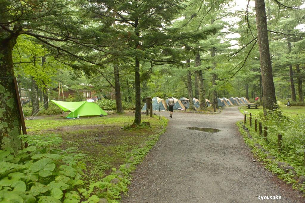 小梨平キャンプ場、じつは往路20日6時20分に撮った写真です。
